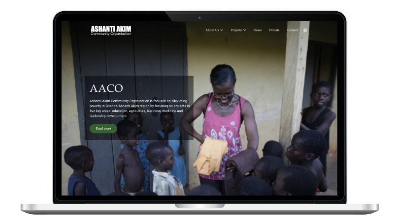 Picture of AACO website or Macbook
